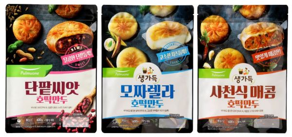 풀무원, 겨울철 히트간식 '단팥씨앗 호떡만두' 출시