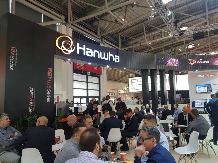 한화정밀기계는 독일 뮌헨에서 열린 ′Productronica 독일' 전시회에 참가했다.