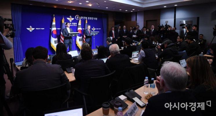 [포토] 한미 국방장관 공동 기자회견