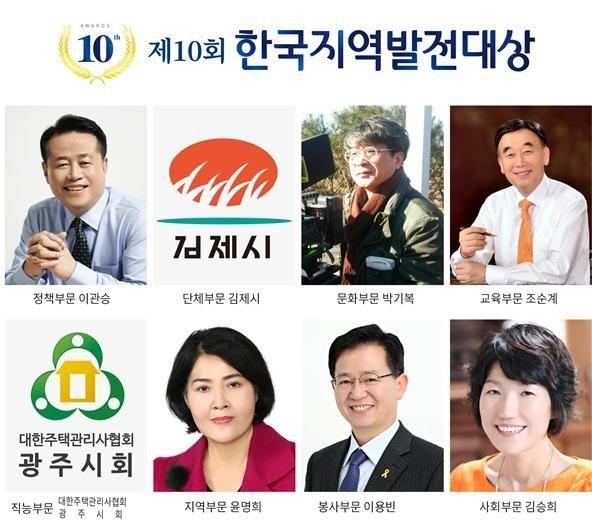 지역발전정책연구원, 20일 '한국지역발전대상 시상식' 개최
