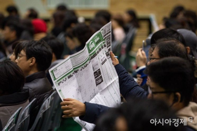 [포토]대학배치참고표 보는 학부모