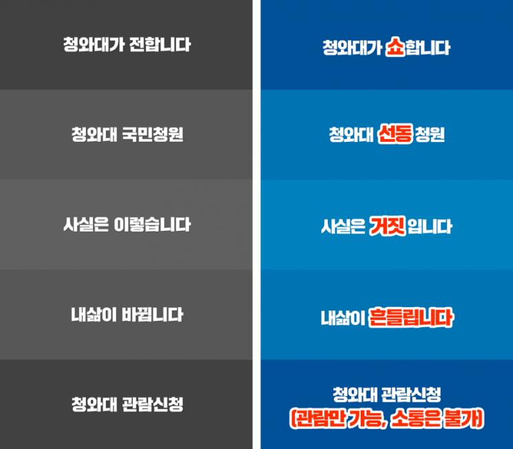 """바른미래당, 공식 앱 '청와대' 출시에…""""쇼가 한결 같다"""""""