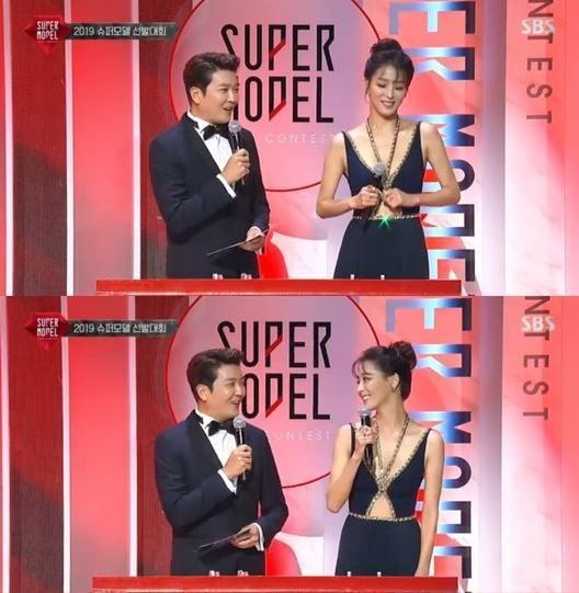 최기환 SBS 아나운서·배우 한고은/사진=SBS '슈퍼모델 선발대회' 방송화면 캡쳐