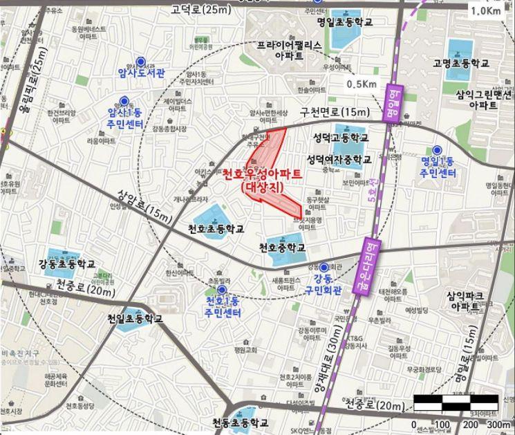강동구 천호우성, 625가구 규모 재건축…정비계획안 수정가결