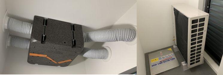 ▲ 새 아크로에는 소음을 유발하는 실외기, 환기장치 등을 모두 주방 쪽 실외기실에 배치해 침실로 유입되는 소음을 최소화했다. (사진=이춘희 기자)