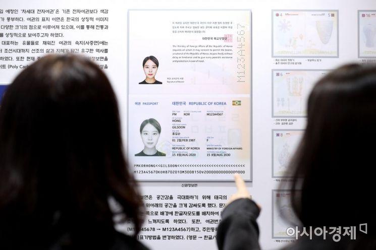 2020년 도입 예정인 차세대 전자여권. 자료 사진. 기사와 직접 관련이 없음.