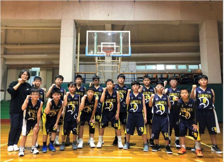 연가초등학교 농구부.