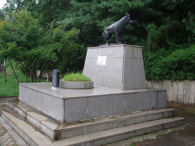 1990년 북한의 제4땅굴 소탕작전시 목함지뢰를 발견후 산화해 11명의 병사를 살리고 사망한 군견 '헌트'의 동상 모습(사진=양구통일관 홈페이지/http://ygrp.or.kr/)