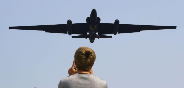 2017년 경기도 평택시 오산공군기지에 착륙 하는 U-2S (사진=연합뉴스)