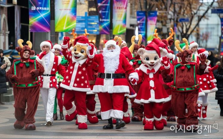 [포토]에버랜드, 크리스마스 축제 퍼레이드