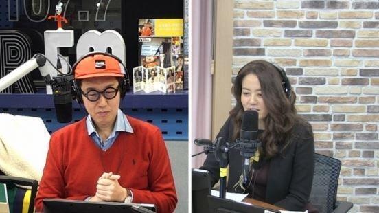 DJ 김영철과 게스트 손미나/사진=SBS 파워FM'김영철의 파워FM' 화면 캡처