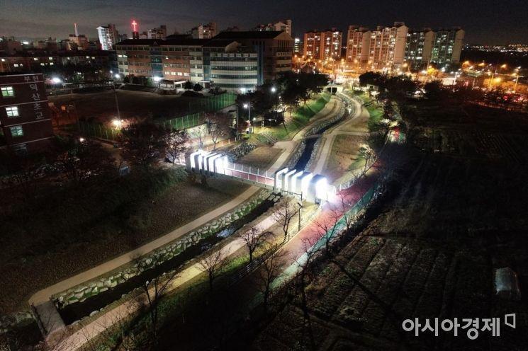 '오정 시민의강' 보도교 야경 [사진=부천시]