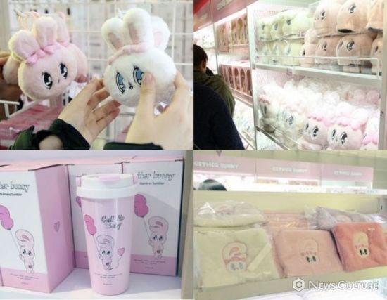 에스더버니 팝업스토어에서 판매 중인 상품들. 사진=김태윤 기자