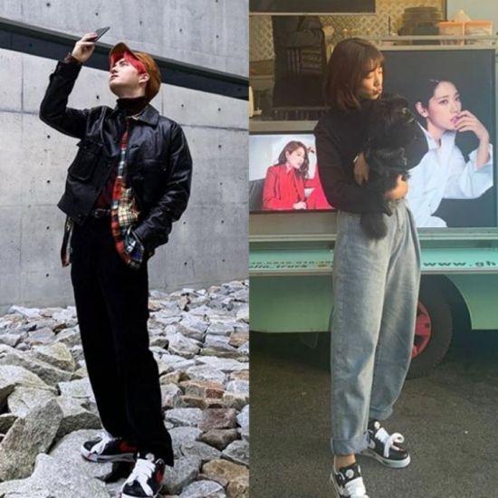 그룹 엑소 수호와 배우 박신혜. 사진=수호, 박신혜 인스타그램