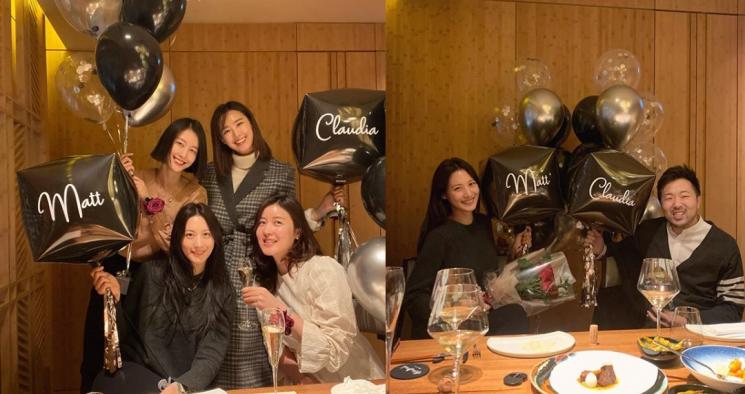모델 이현이가 결혼을 앞둔 배우 수현과 차민근 위워크코리아 전 대표를 만난 사진을 공개했다 / 사진=이현이 인스타그램 캡처