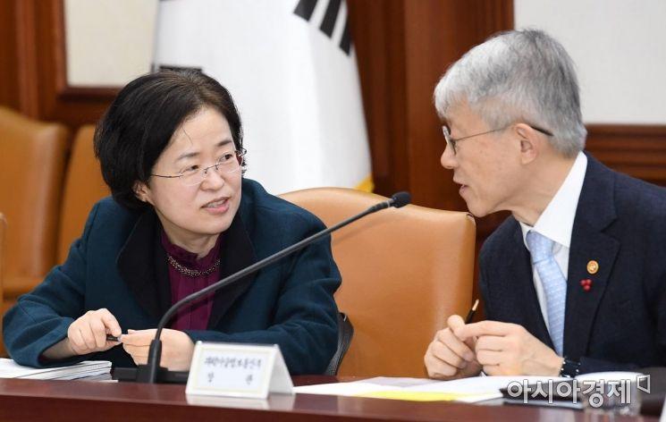 [포토] 대화하는 조성욱-최기영