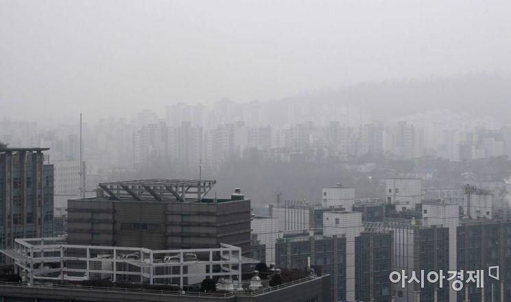 서울을 포함한 중부지역에 고농도 미세먼지 비상저감조치가 시행된 11일 서울 도심이 뿌옇게 보이고 있다./김현민 기자 kimhyun81@