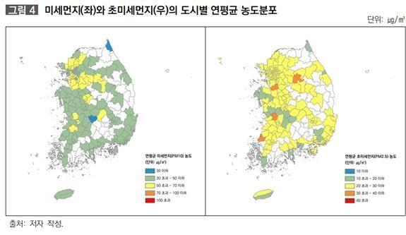 """수도권은 '미세먼지', 충남·전북은 '초미세먼지' 농도 높아…""""지역 특성 반영한 대책 필요"""""""
