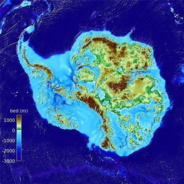500미터 해상도 남극대륙 지형도