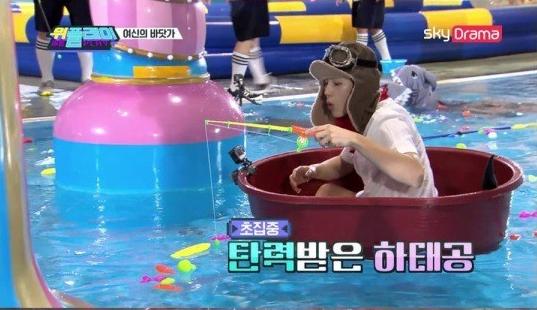 그룹 워너원(Wanna One) 출신 가수 하성운이 뛰어난 예능감을 뽐낸다/사진=스카이드라마 '위플레이' 화면 캡처