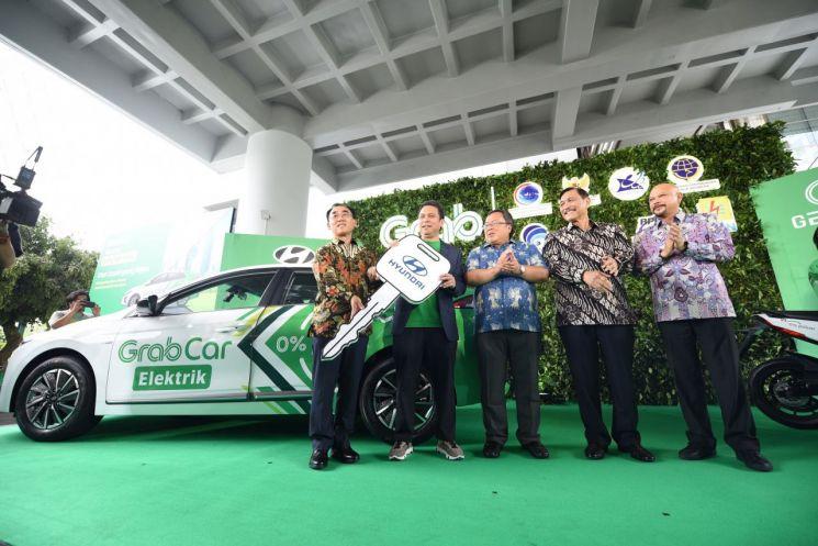 현대차-그랩, 아이오닉 전기차로 印尼 차량 호출 서비스 '시동'