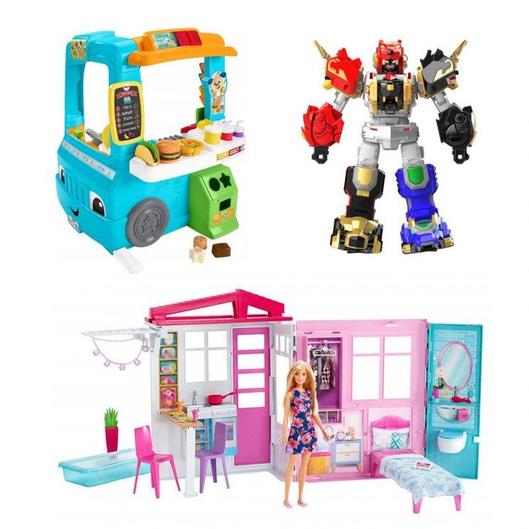 (왼쪽 상단부터)피셔프라이스 러닝 푸드트럭, 엑스가리온 킹가리온X, 바비의 플레이 하우스