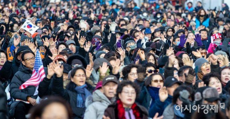 [포토]일요일에도 이어지는 보수단체 집회