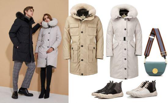 사진=모델컷 및 제품컷 지오스피릿,신발 에이지,가방 오야니