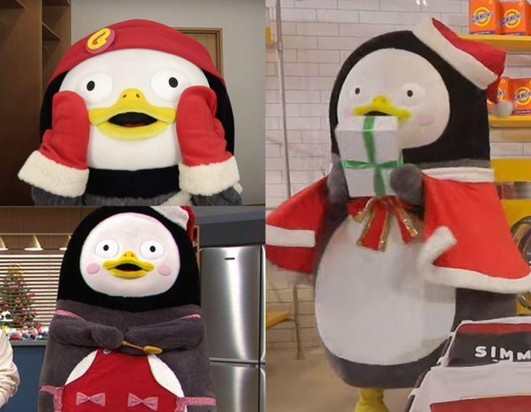 크리스마스 시즌의 펭수. 사진=자이언트 펭TV 유튜브 화면, EBS