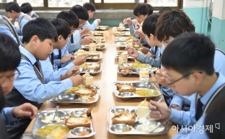 동인천중학교 무상급식 [사진 제공=인천시교육청]