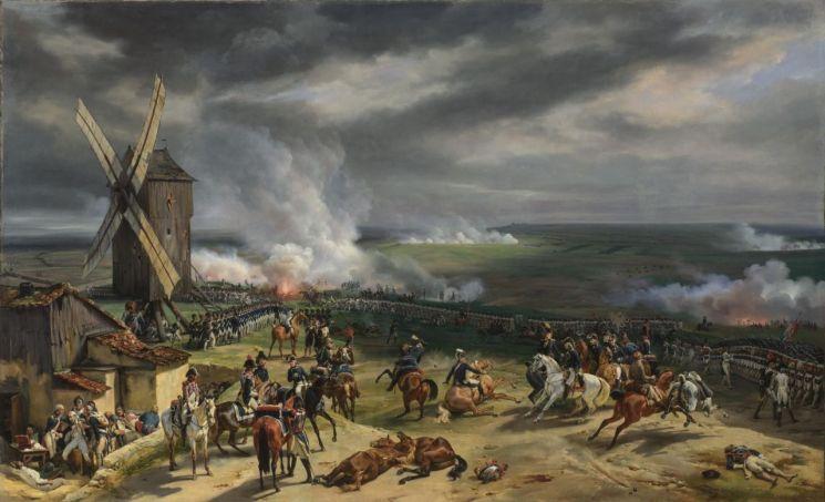프랑스 화가 오라스 베르네가 그린 '발미전투(Battle of Valmy)'[이미지출처= 런던 내셔낼갤러리 홈페이지/  http://www.nationalgallery.org.uk]