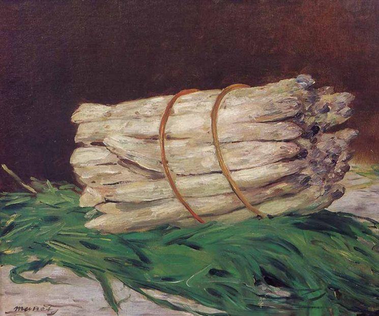 에두아르 마네 '아스파라거스 다발', 1880년, 46x55㎝, 발라프리하르츠 미술관, 독일 쾰른