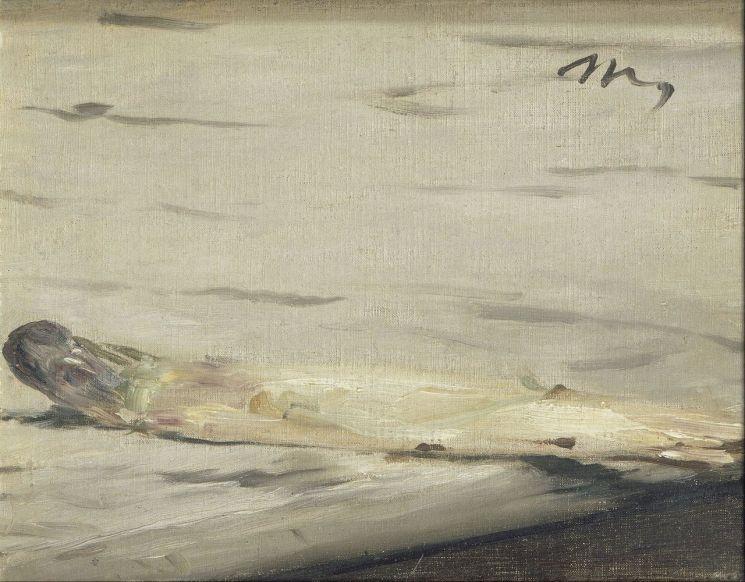 에두아르 마네 '아스파라거스 한 줄기', 1880년, 16x21㎝, 오르세 미술관, 프랑스 파리