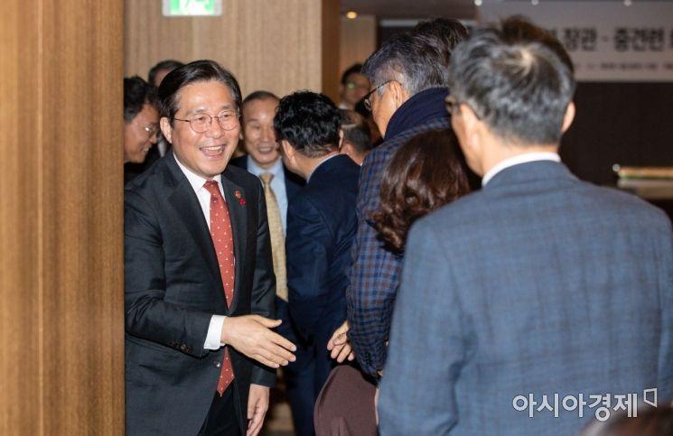 웃는 이가 성윤모 산업통상자원부 장관./강진형 기자aymsdream@