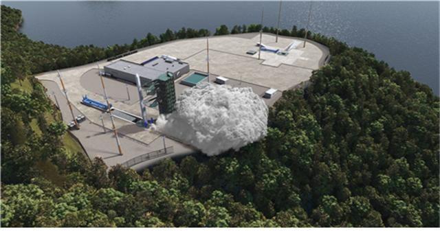 누리호 발사를 그래픽으로 구현한 모습/ 한국항공우주연구원