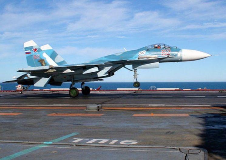 러시아의 항모 함재기인 Su-33의 모습[이미지출처=러시아국방부 홈페이지/http://mil.ru]