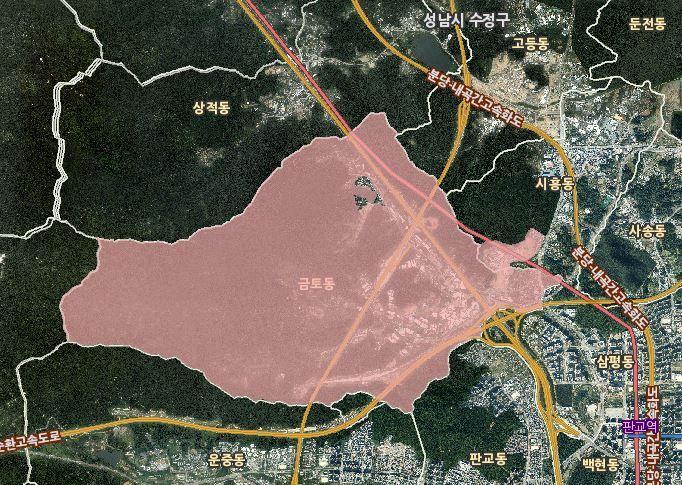 성남 시흥·금토동 43만1948㎡ '토지거래허가구역' 해제