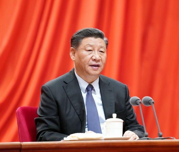 시진핑 중국 국가주석이 지난 1월 13일 베이징 인민대회당에서 열린 제19기 중앙기율검사위원회 4차 전체회의에 참석해 연설하고 있다. <사진=신화연합>
