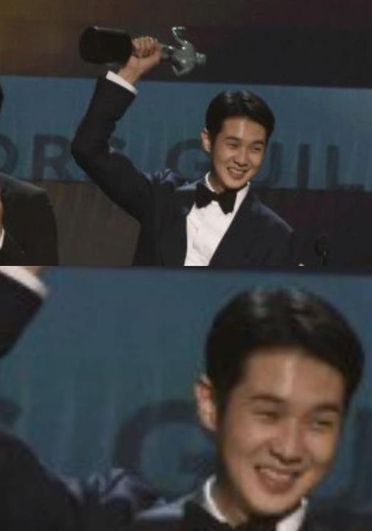 배우 박서준이 절친한 배우 최우식의 수상을 축하했다/사진=박서준 인스타그램 캡처