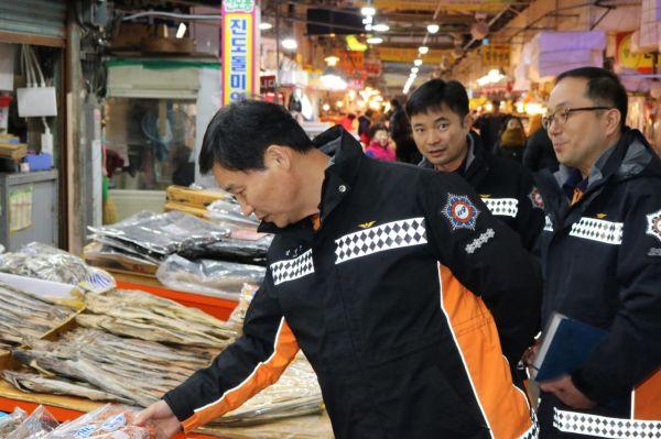 광주 서부소방서, 전통시장 장보기 행사 전개