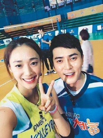 배우 조동혁(우)과 배구선수 한송이 / 사진=KBS 2TV