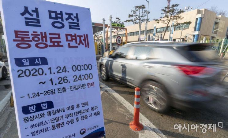 [포토] 26일까지 고속도로 통행료 면제