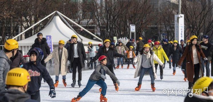 [포토] 설 연휴는 '스케이트'와 함께