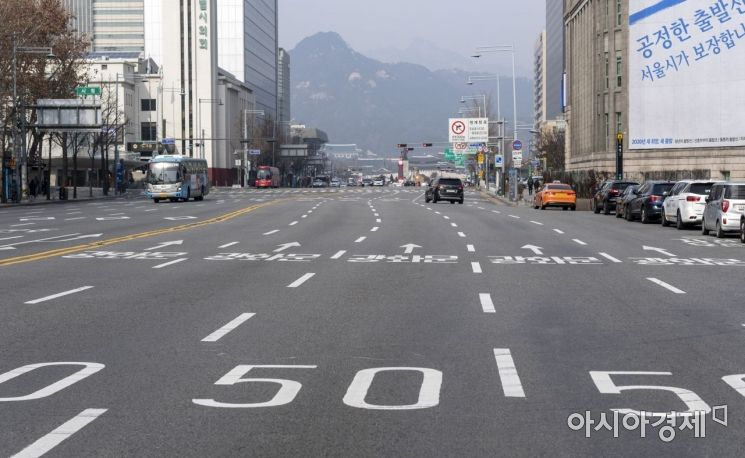 [포토] 뻥 뚫는 서울 도심