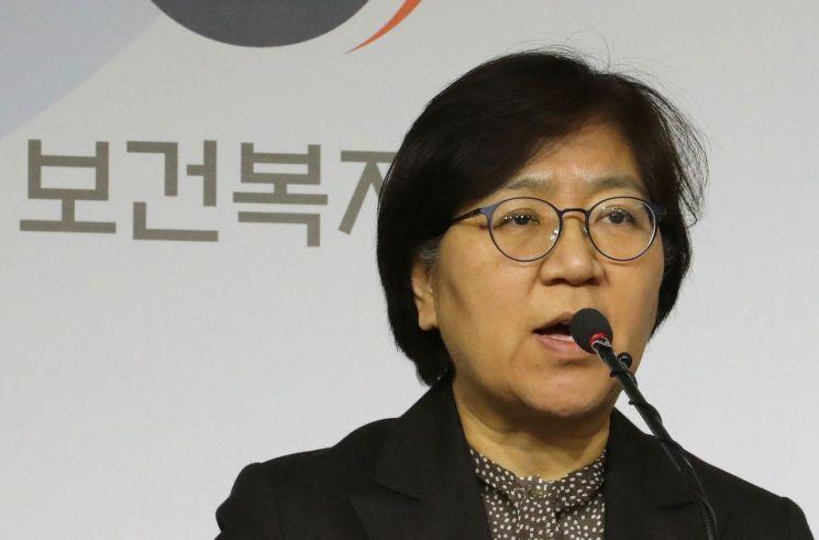 브리핑중인 정은경 질병관리본부장<이미지:연합뉴스>