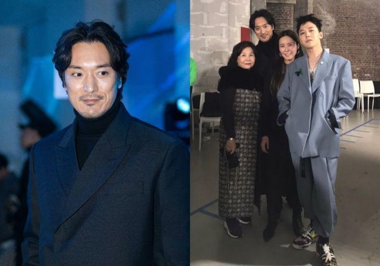 김민준, 지드래곤과 가족들. 사진=가족이엔티