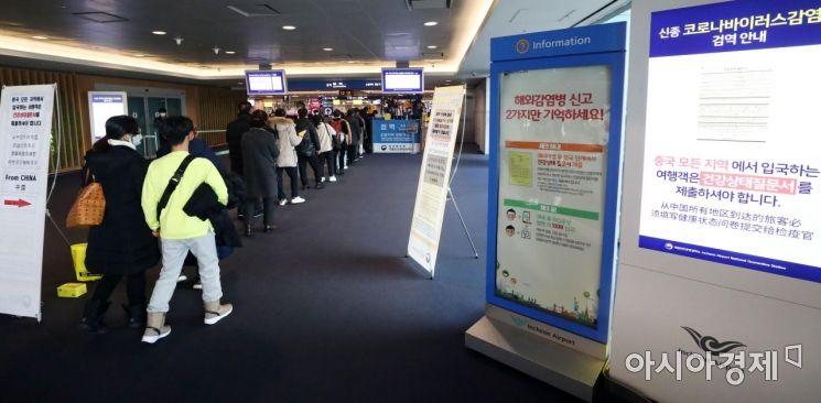 [포토] 중국서 들어온 여행객 검역 강화