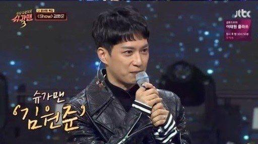 슈가맨3에 출연한 가수 김원준. 사진=JTBC 방송화면 캡처