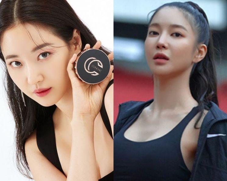 '컨시크 새로운 뮤즈' 김사랑·'헬스헬퍼 워너비 모델' 김윤지