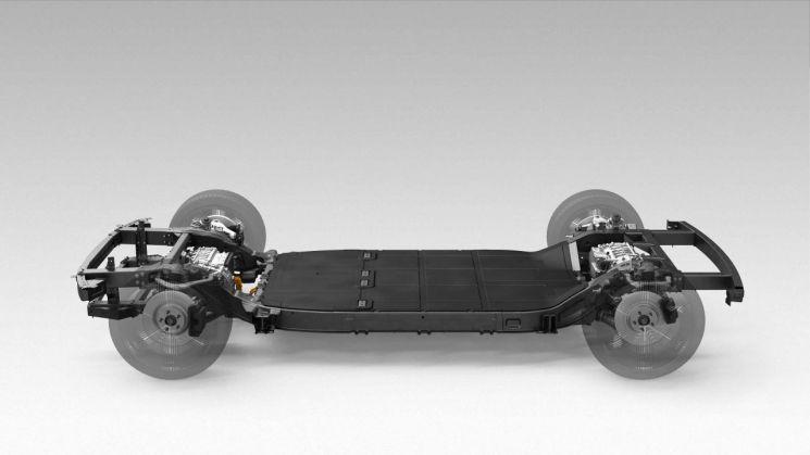 미국 전기차 전문기업 카누가 개발한 전기차 스케이트보드 플랫폼